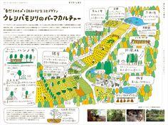 「東北食べる通信 2016年10月号」イラスト Dm Poster, Graphic Design Lessons, Campus Map, Art Carte, Japan Painting, Buch Design, Graph Design, Information Graphics, Illustrations And Posters