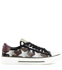 Starstudded fabric sneakers