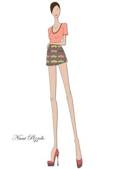 #girl #style #fashiondesign #style #sketch #croqui #fashionillustration #love @Nani Pizzolo