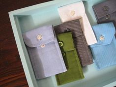 shirt cuffs made into case/pocket (thumb drive or lip gloss size ... or to hold mad money ;-)