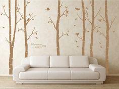 Wandtattoo Wanddekoration - Baum mit Vögeln