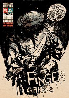 Finger Gang promo Ashley Wood