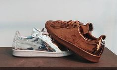 9336ef3e3 Raf Simons Stan Smith Metallic Runing Shoes