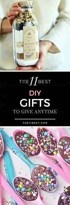 The 11 Best DIY Gifts to make ad give anytime of the year! (diy christmas crafts to sell) Diy Gifts To Make, Homemade Gifts, Diy Gifts Cheap, Diy Cadeau, Navidad Diy, 242, Diy Presents, Jar Gifts, Gift Jars