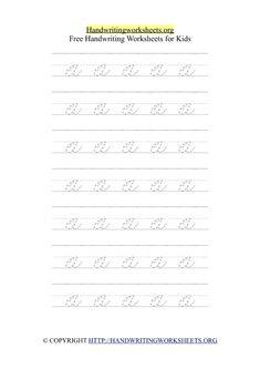 Cursive Alphabet Handwriting Letter Worksheets with Arrows | Handwriting Worksheets Org Cursive Letters Worksheet, Handwriting Worksheets For Kids, Handwriting Alphabet, Letter Worksheets, Alphabet Charts, Arrows, Lettering, Drawing Letters, Letters
