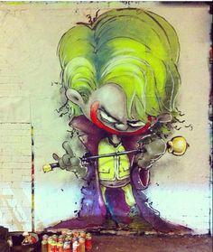 The Joker by Parlee ERZ, 11/14 https://www.etsy.com/shop/urbanNYCdesigns?ref=hdr_shop_menu #street #art #graffiti