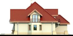 DOM.PL™ - Projekt domu DN Modena CE - DOM PC1-22 - gotowy koszt budowy Family House Plans, Dream House Plans, Home Building Design, Building A House, Beautiful Home Designs, Beautiful Homes, Two Story House Design, Kerala House Design, Kerala Houses