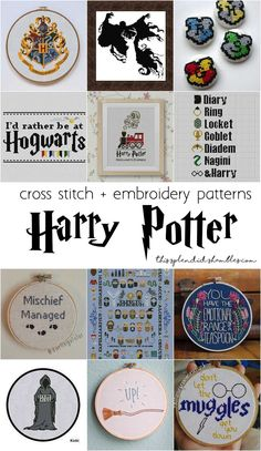 Embroidery Patterns harry potter cross stitch and embroidery patterns - Get out your needle and thread, and get to creating some of these super awesome Hogwarts Cross Stitch patterns, in celebration of September Cross Stitch Bookmarks, Cross Stitch Books, Cross Stitch Kits, Cross Stitch Designs, Free Cross Stitch Charts, Harry Potter Cross Stitch Pattern, Disney Cross Stitch Patterns, Counted Cross Stitch Patterns, Cross Stitches