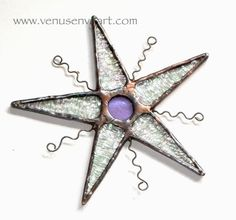 Stained Glass Star Ornament Iridescent Clear by venusenvyart, $18.00
