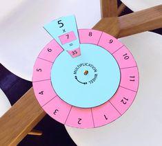 Multiplication and Division Fact Wheels Interactive multiplication fact wheels for 11 and 12 times tables. Teaching Multiplication, Multiplication And Division, Teaching Math, Multiplication Strategies, Math For Kids, Fun Math, Preschool Activities, Math Math, Math Crafts