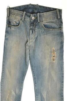 c01700dd788 $108.90 Diesel Mens Blue Boot Cut Jeans Regular Fit Distressed/Destroyed  BHFO 26 Retail 330.00