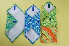 Awesome tutorial on making reusable sandwich wraps with fused plastic grocery bags, fabric and velcro