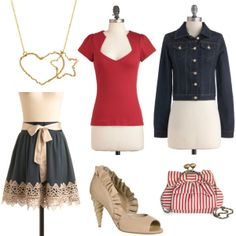 A totally darling outfit to go with the gorgeous heart star necklace in Favery's Love Mission, styled by Rachel