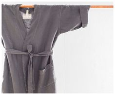 Linen BathRobe  One Size Fits All Washed Linen  by CelinaMancurti