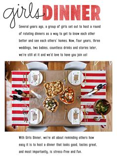 Because It's Awesome: girls dinner // pizza party