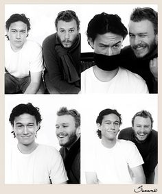 Joseph Gordon-Levitt with Heath Ledger (RIP)...... (+ this makes me a little sad, sigh)