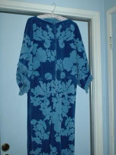A caftan/robe made from towels.  My mom made one for her, for me, for her sisters....