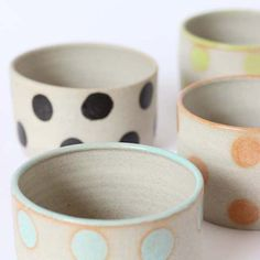 Colorful dotty bowls
