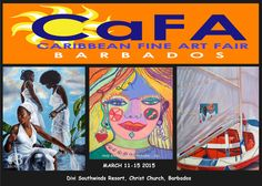 The 5th Edition of CaFA Fair - Barbados will return to Bridgetown, BARBADOS from March 11 - 15, 2015.. We are planning an exciting event program including distinguished symposium presenters, fashion, spoken word, and film; with daily gift surprises for our patrons.  2014 continues to be an exciting year for CaFA Fair and our participating artists.  www.cafafair.com  www.facebook.com/CaFAFairBarbados