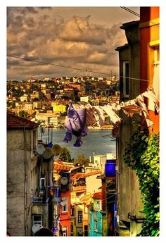 The laundry of Istanbul.