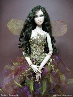 """Monah"" by Tatiana Tofaneto Porcelain doll"