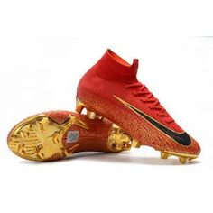 a0df4b3b8 Nike Mercurial Superfly 360 CR7 Red Gold cleats