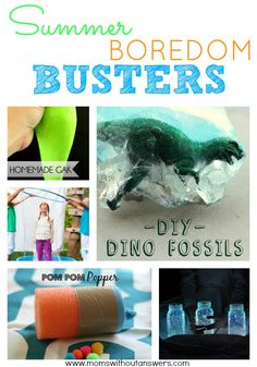"Beat the summer heat as well as the ""I'm Bored"" talk with these easy and awesome Summer Boredom Busters."