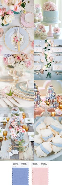 Pantone's Color of the Year 2016, Rose Quartz and Serenity Party Inspiration - beautiful for Easter!