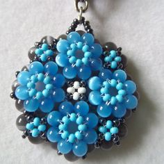Flowerbed-Blue on Etsy, $20.00
