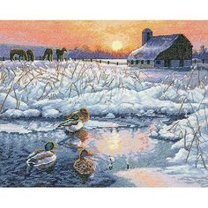Dimensions Gold Collection Counted Cross-Stitch Kit, Winter Morning