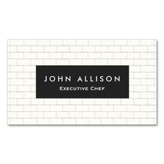 1948 best chef business cards images on pinterest business cards cool subway tile personal chef and catering business card reheart Image collections