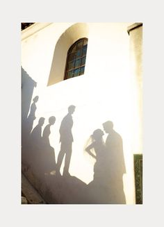 Sara France's wedding party shadow pic ~ we ❤ this! moncheribridals.com
