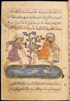 KALILA AND DIMNA, IN ARABIC | Crossing Borders Syria?, 1354, 14 1/2 x 8 3/4 in. (36.8 x 22.2 cm), MS. Pococke 400, fol. 75b