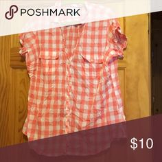 Columbia Pink Check Top Columbia pink check top- worn once and needs a good old fashion ironing. Columbia Tops Button Down Shirts