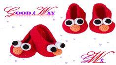 طريقة عمل حذاء أطفال كروشية \ shoes  Elmo Inspired Baby Booties Crochet ...