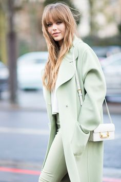 Kristina Bazan - Paris Fashion Week street style  - HarpersBAZAAR.co.uk