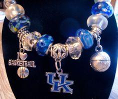 University of Kentucky Wildcats - European Charm Bracelet - NCAA, Basketball on Etsy, $19.99