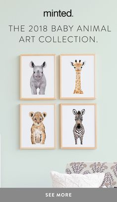Create a special place for your kids with our baby animal art collection by Mint. - Create a special place for your kids with our baby animal art collection by Minted artist Cass Loh, -