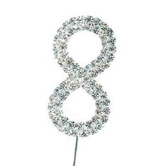Number 8 Diamante Cake Topper - Birthday Gift / Decoration / Eight