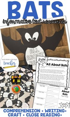 All About Bats {Informative Text, Craftivity, Comprehension, and Writing} Writing Resources, Classroom Resources, Writing Activities, Classroom Ideas, All About Bats, Bat Facts, All Bat, Kindergarten Language Arts, Writing Assignments