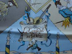:-) Hermès jacquard silk scarf Le Carnaval de Venise - detail - for sale :-)