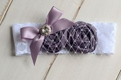 Purple Infant Headband Lace Hairpiece by FeatherRiverBoutique, $12.00