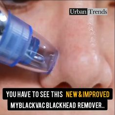 """FACT: Squeezing & Tweezing leaves major part of the Yuck behind in your Pores. ✨ This """"Blackhead Suction Vacuum"""" easily sucks out Blackheads & whiteheads with no pain & harmful effects to your skin. Facial Skin Care, Natural Skin Care, Natural Beauty, Skin Tips, Skin Care Tips, Beauty Care, Beauty Skin, Diy Beauty, Beauty Ideas"""