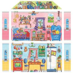 Daisy Doll House Illustrations to cover the house, wardrobe, pets, little sisters and all clothing pieces. Spanish Lesson Plans, Spanish Lessons, Portuguese Lessons, Spanish Teaching Resources, Teaching English, Paper Doll House, Paper Dolls, Hidden Pictures, House Illustration