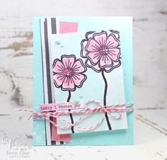 Handmade card by Teresa Kline using the Kindness Matters stamp set from Verve. #vervestamps