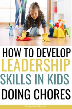 """As parents we all know that kids are """"supposed"""" to have chores. Sometimes it feels like more work to give a child a household job to complete as a chore than it feels to do the chore yourself. But it's still worth to ask children do their chores. Chores develop leadership skills in children, and leadership is one trait that is highly sought after in our modern workforce. #kidschores #kidschoresbyageallowance Teaching Kids, Kids Learning, Chores For Kids By Age, Chore Schedule, Creative Jobs, Charts For Kids, Problem Solving Skills, Workplace, Leadership"""