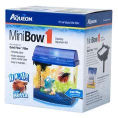 Glofish 3 gal half moon aquarium desktop aquariums for Petsmart betta fish price