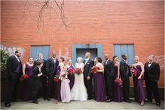 Large wedding party having fun - love this shot! Click to view the entire wedding!