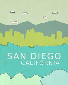 San Diego, CA art print