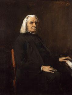 Portrait Franz Liszt - Mihály Munkácsy